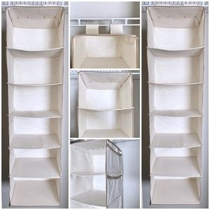 6 Shelf Hanging Closet Organizer with Pockets